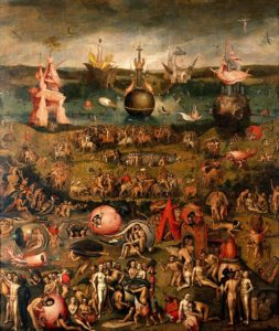 The 'Garden of earthly delights: Allegory of Luxury' by Hieronymous Bosch. Creative Commons license.