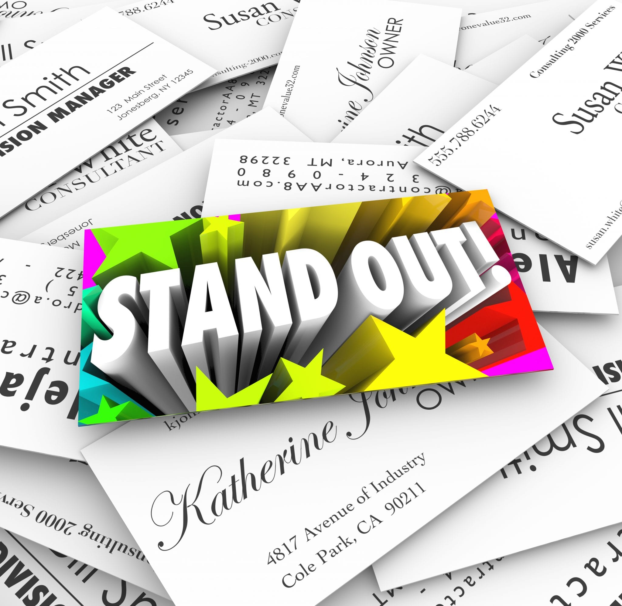 Stand Out Business Card Pile Be Unique Special Different - BBR Consults