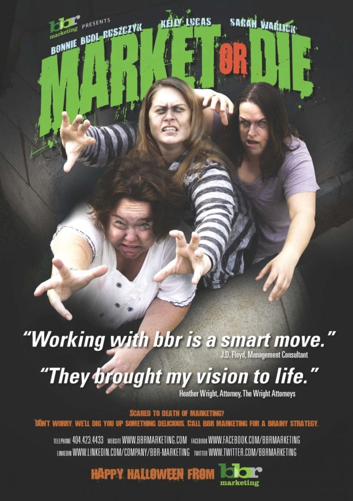 bbr marketing Halloween zombie poster