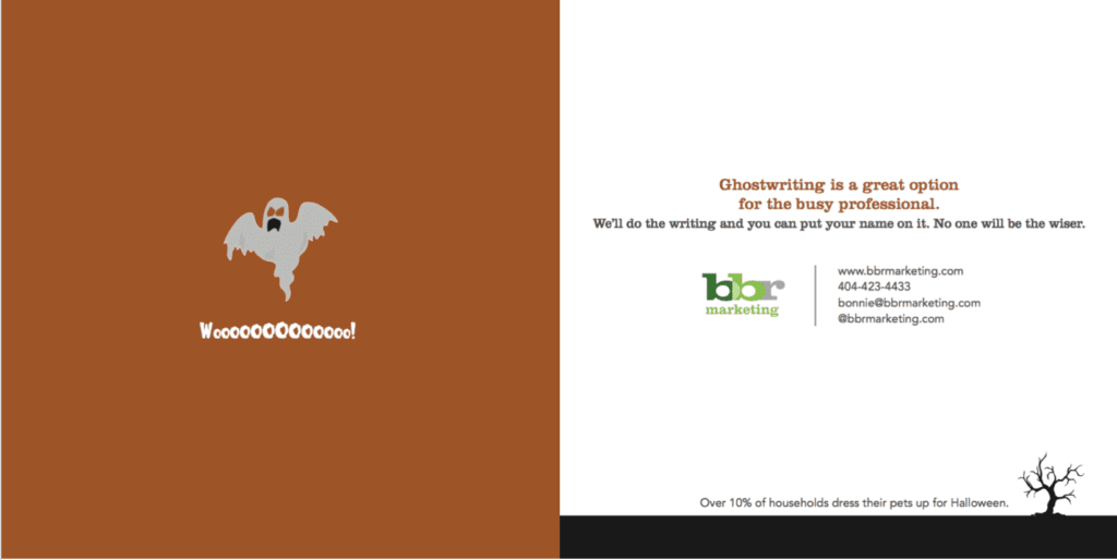 bbr marketing Halloween trivia cards