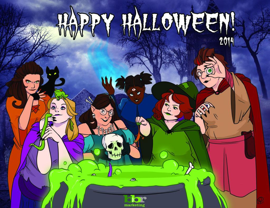 bbr marketing Halloween Witches eCard