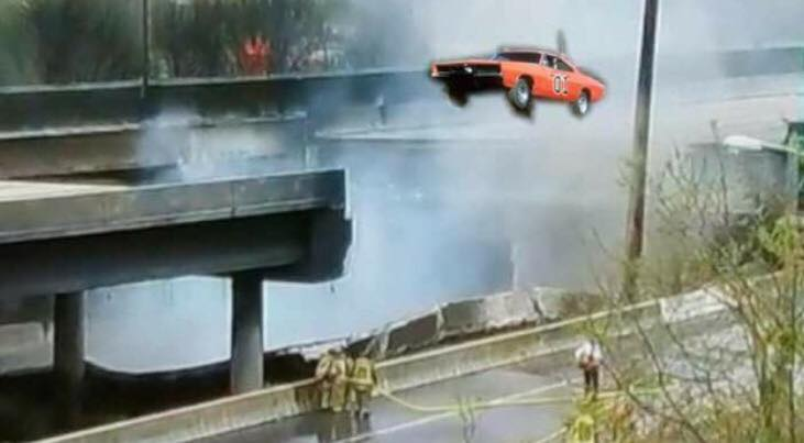 I85 bridge collapse Dukes of Hazzard | bbr marketing